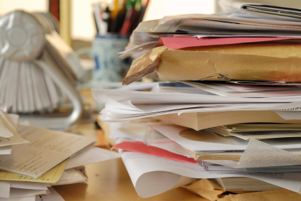 A stack of papers